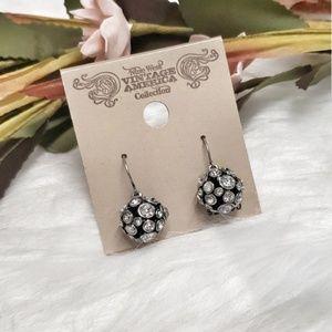 Nine West || Rhinestone Ball Earrings